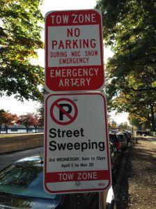 Street parking is complex in Boston.