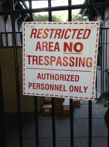 I was not authorized.