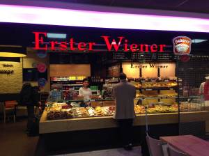 I know the start is good because the first thing I saw after I stepped through the gate into the arrivals section of Frankfurt airport was this store.