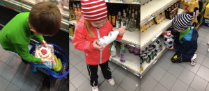 You can clearly see the kids are choosing these items under their own free will.
