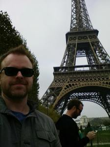Here's us at the Eiffel Tower. They named it after the guy who got other people to build it.