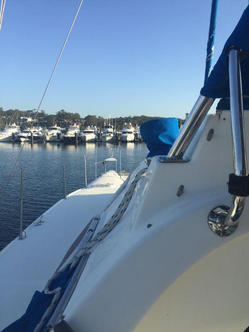 Boat for batteris post